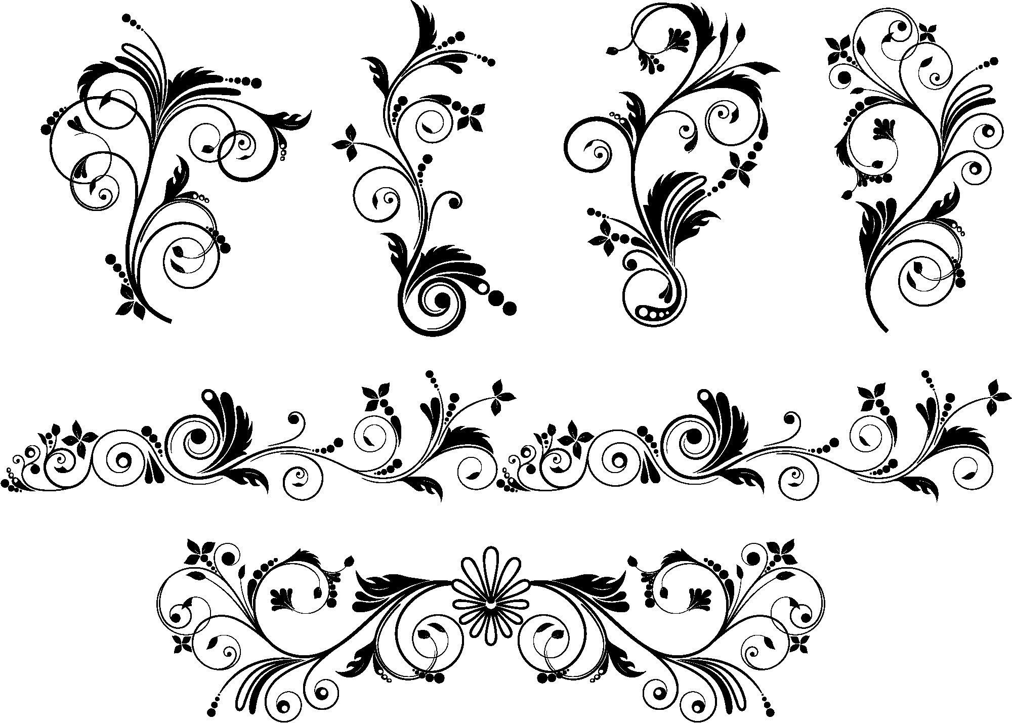 Curl Flourish Vector Art Free Vector