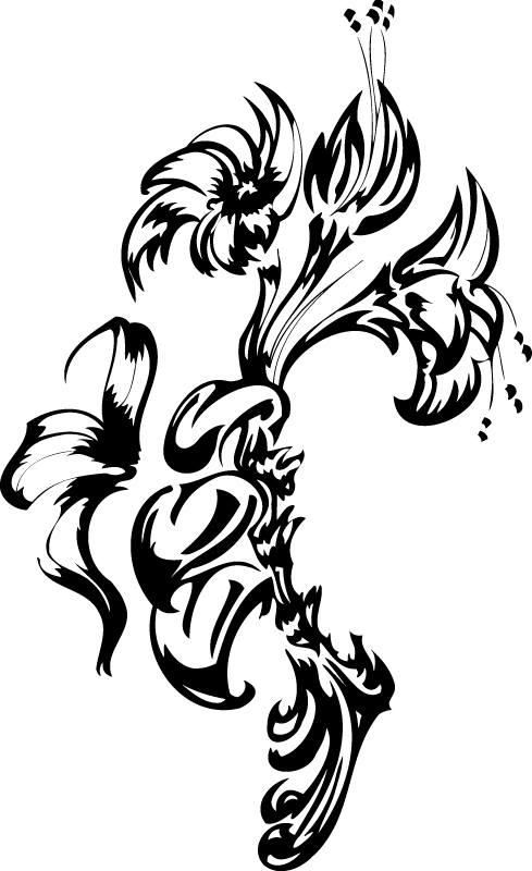 Flowers Tattoo Free Vector
