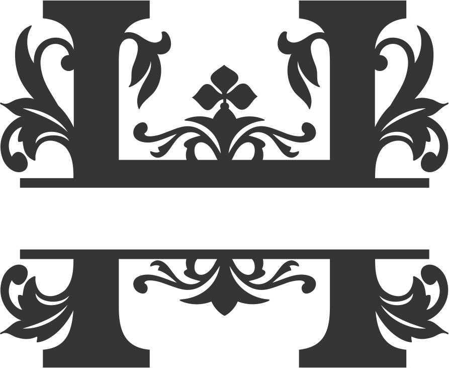 Regal Split Font H DXF File