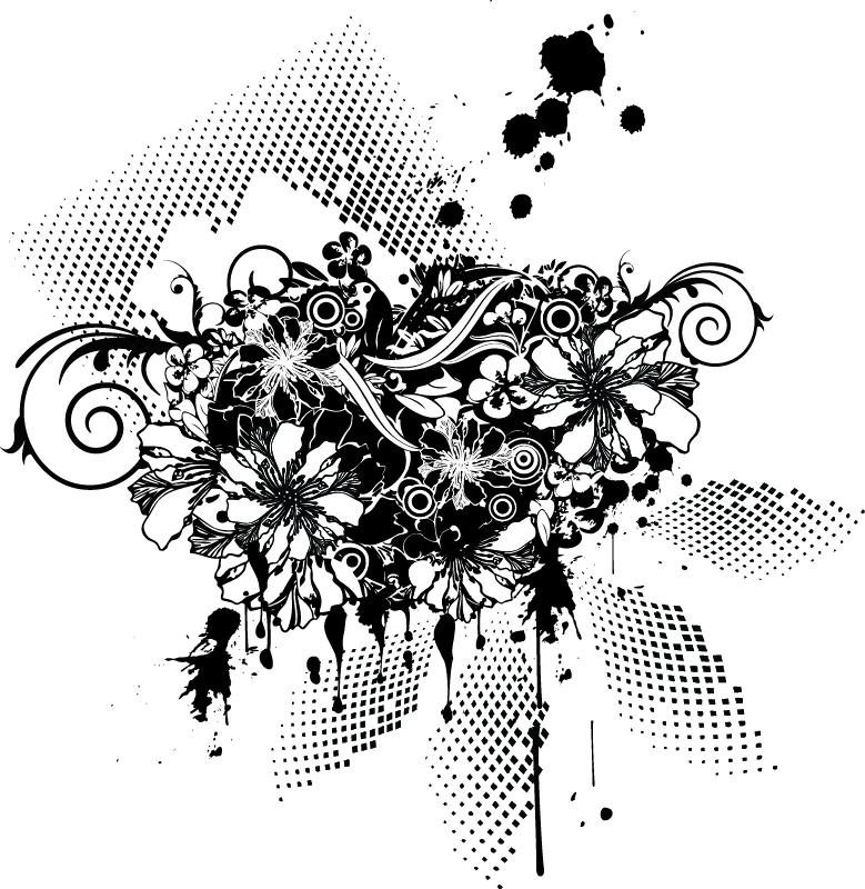 Floral Vector Tshirt Design Free Vector