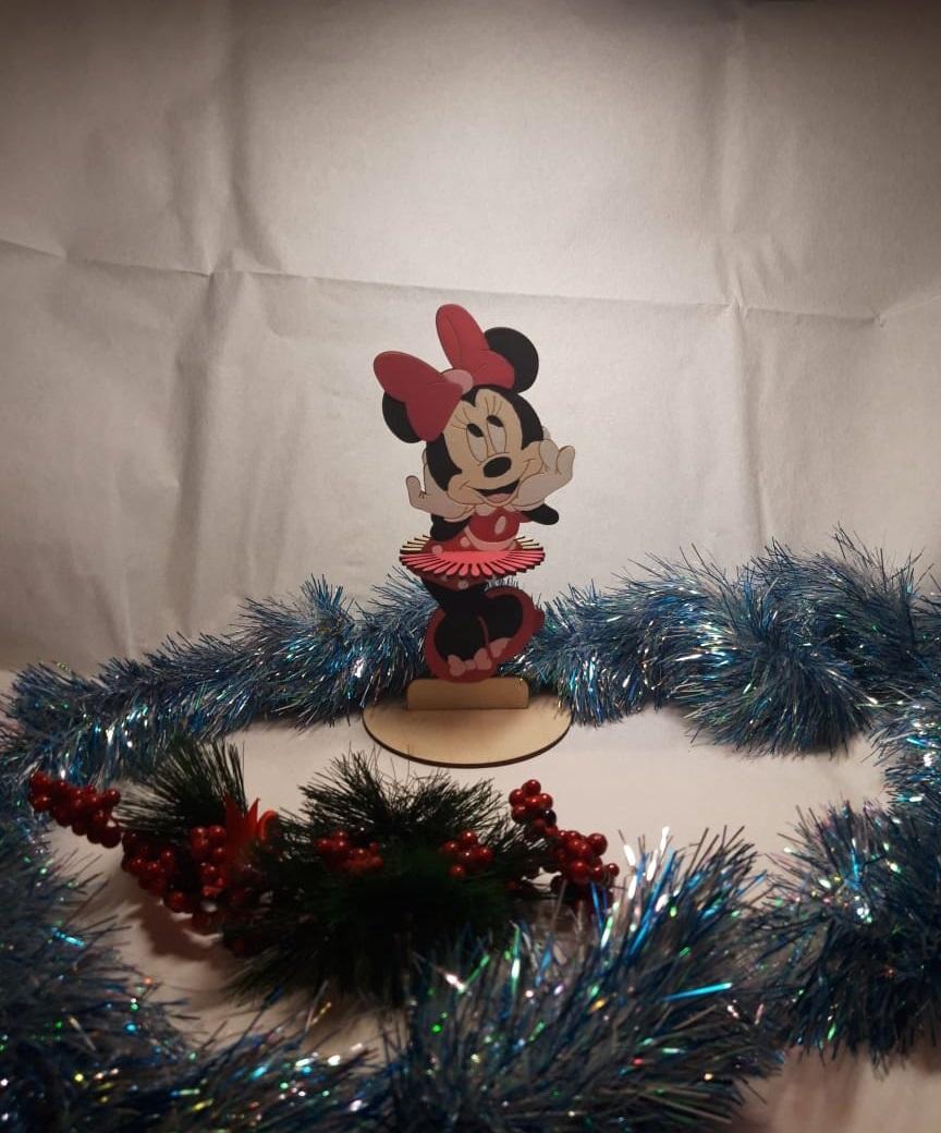 Laser Cut Disney Minnie Mouse Napkin Holder Free Vector