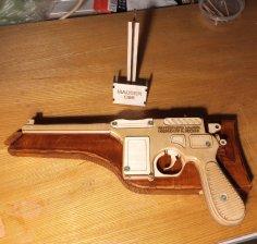 Laser Cut Mauser C96 Pistol Toy Gun Free Vector