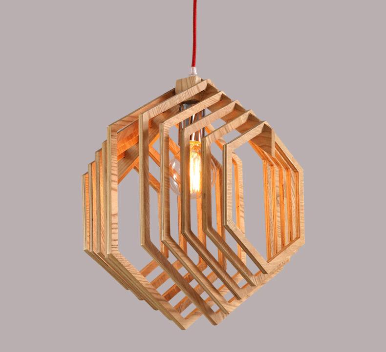 Laser Cut Wooden Pendant Hanglamp Free Vector