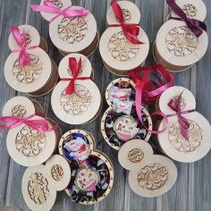 Laser Cut 8 March Womens Day Gift Box Free Vector