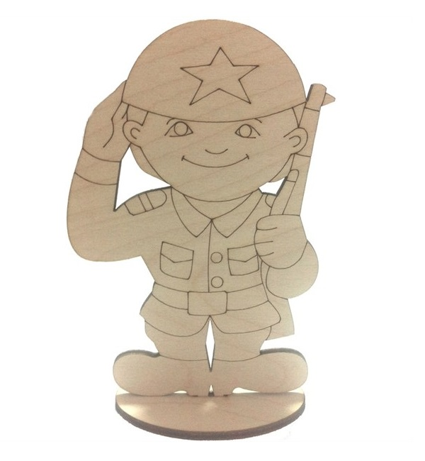 Laser Cut Toy Soldier Stand Up Decoration Free Vector