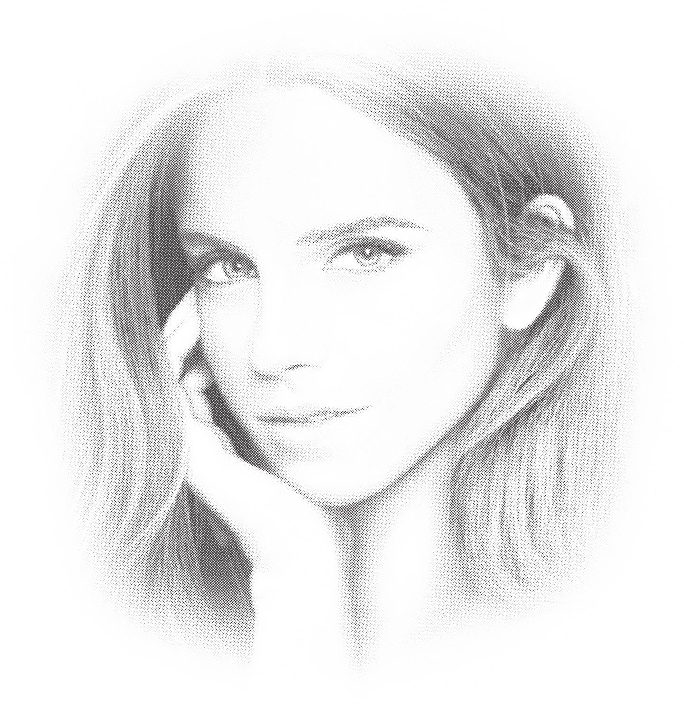 Laser Cut Engrave Emma Watson Portrait Free Vector