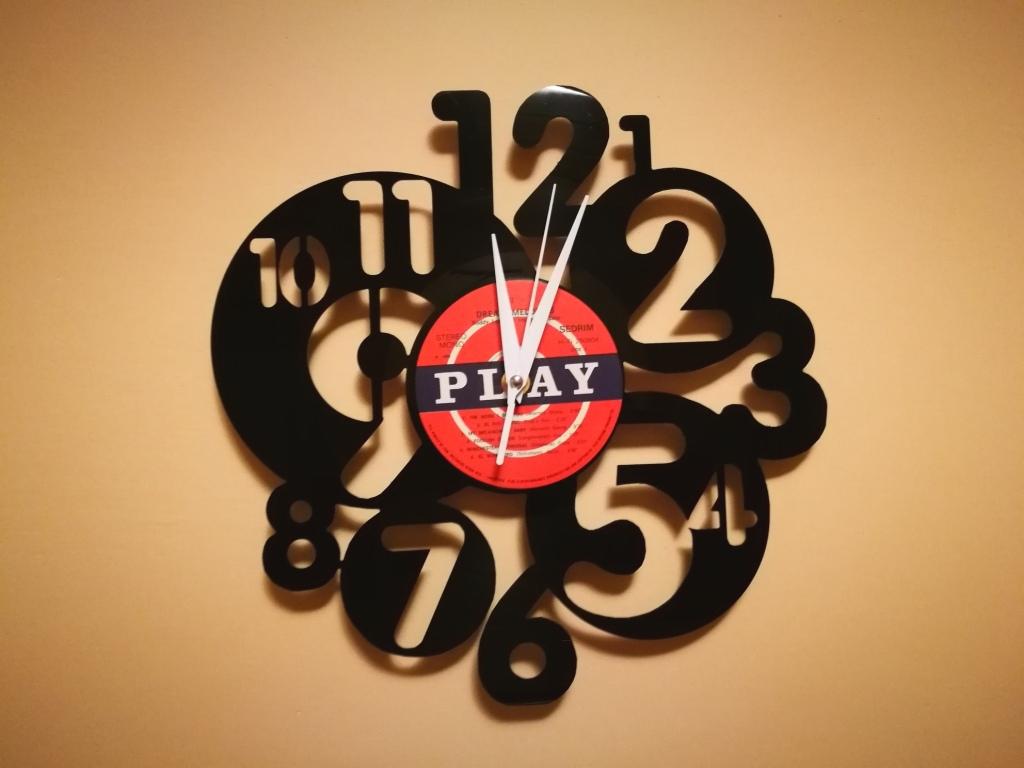 Orologio Vinile Cerchi Numeri Clock dxf file