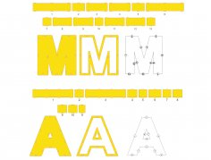 Laser Cut Mothers Day Gift Word Mama Letters Plywood 3mm Height 310mm Free Vector