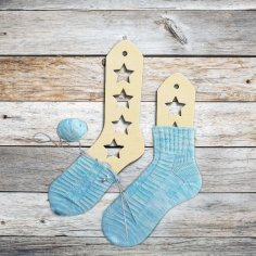 Laser Cut Wooden Sock Blockers With Stars Free Vector