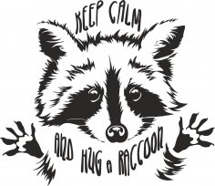Funny Touching Raccoon Wants Hug Cuddle Vector Free Vector