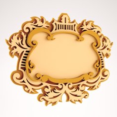 Wooden Mirror Frame DXF File