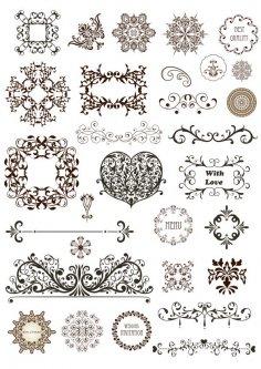 Vector Vintage Ornament Divide Border Vector Art Free Vector