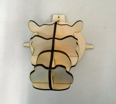 Hippohead 4mm 3d puzzle plan CDR File