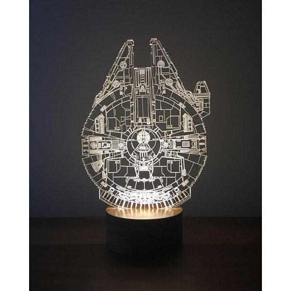 Millenium Falcon 3D Lamp