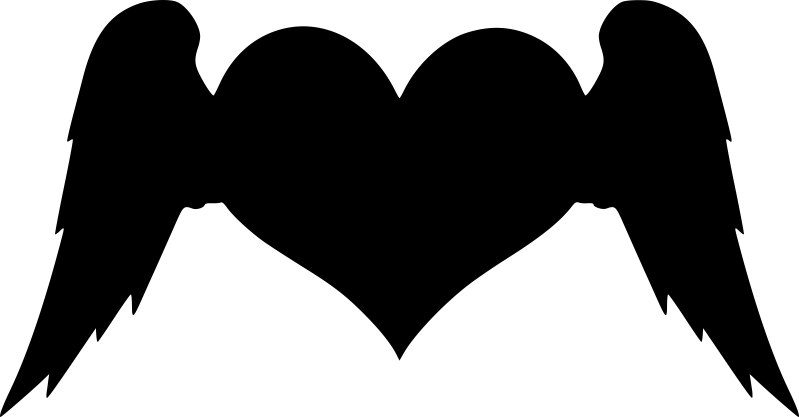 Winged Heart Free Vector