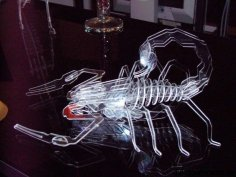 Scorpion 3D puzzle dxf File