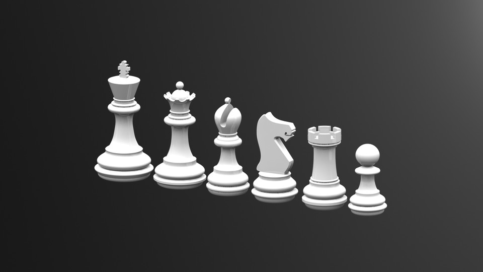 Chess Game Queen dxf File
