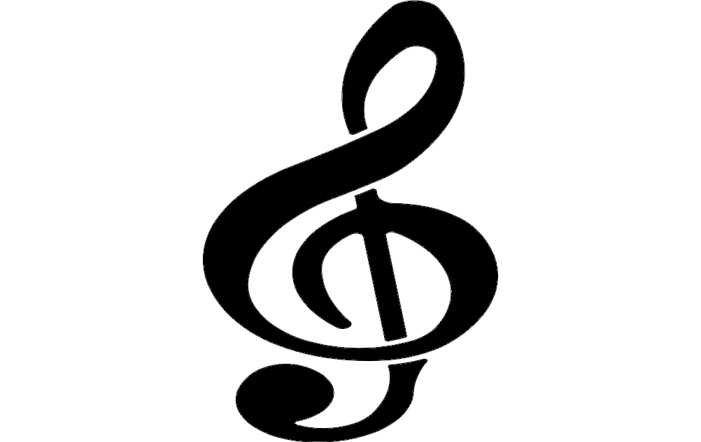 Clef Note dxf File