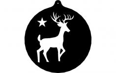 Deer Ornament dxf File