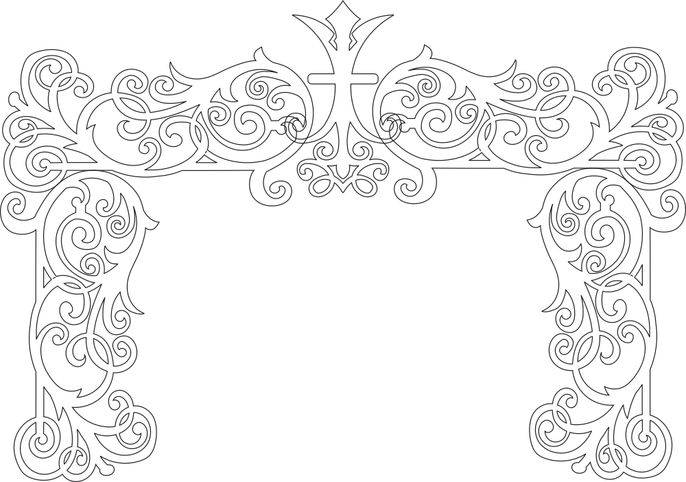 Wedding Decor Laser Cut Free Vector