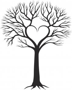 Family Tree With Heart Free Vector