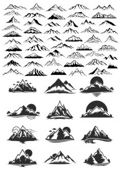 Mountain Vector Art Set CDR File