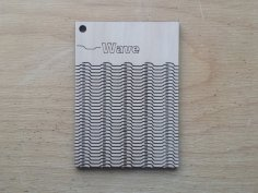 Wave Pattern Living Hinge Template for Laser Cut DXF File