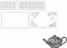 Shkatulka Kopima Laser cut CDR File