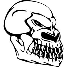 Skull 004 dxf File