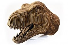 Head of the Dinosaur Tyrannosaurus Free Vector