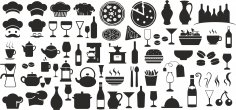 Food Icons Set Free Vector