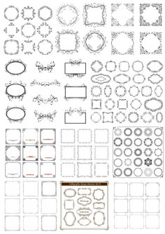 Decor Frame Vector Set Free Vector