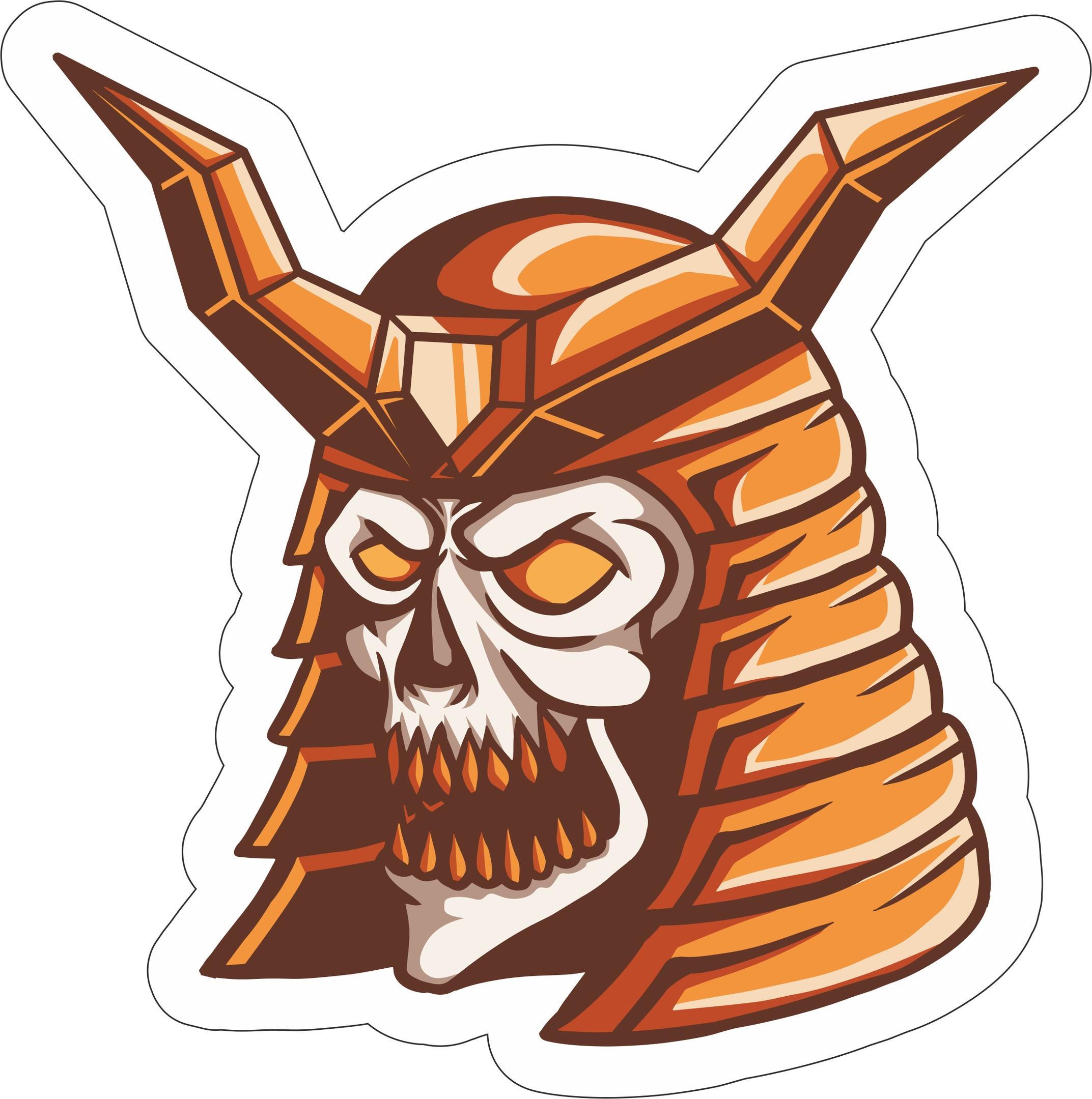 Skull Sticker Free Vector