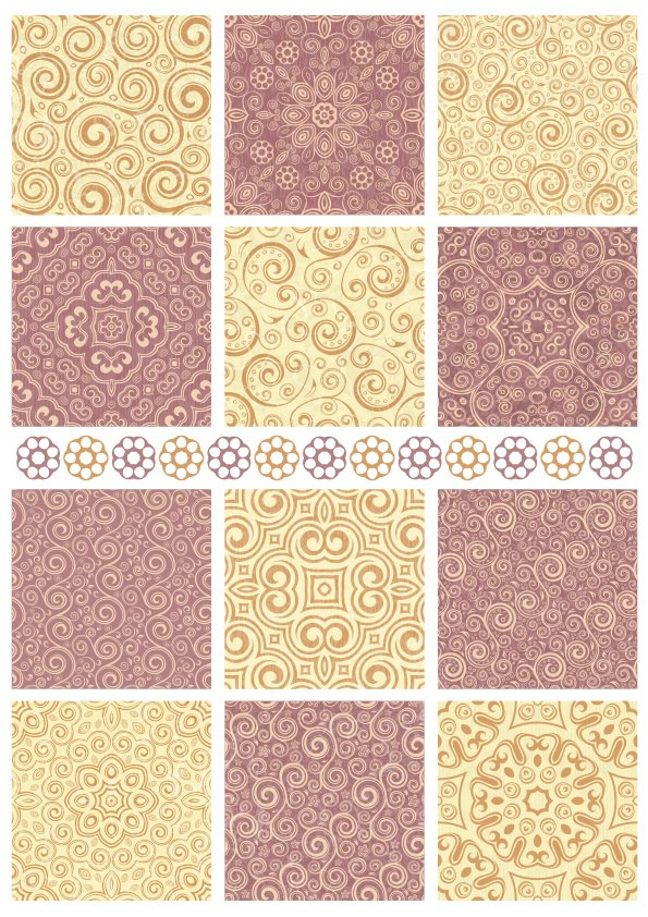 Seamless Floral Background Patterns Free Vector