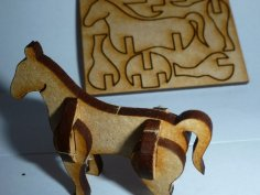 Tiny Lasercut Horse DXF File
