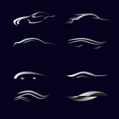 Car Abstract Silhouettes Free Vector