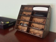 Laser Cut Glasses Rack DXF File