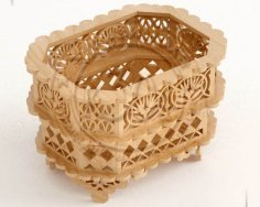 Wooden Decorative Basket DXF File