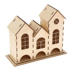 Laser Cut Dollhouse Template Free DXF Files & Vectors - 3axis co
