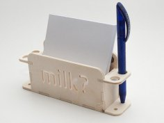 Pens and Card Notes Holder DXF File