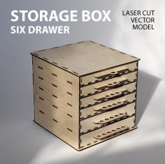 Storage Box with Drawers DXF File
