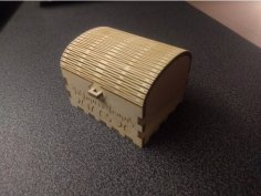 Laser Cut Wedding Ring Box 3mm Plywood DXF File