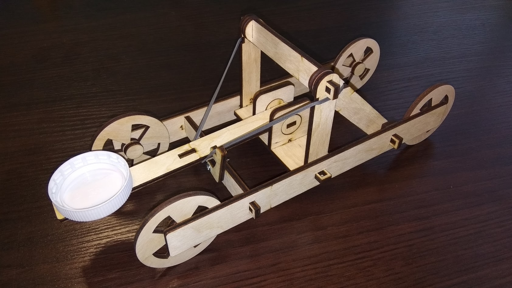 Laser Cut Wooden Toy Catapult Free Vector