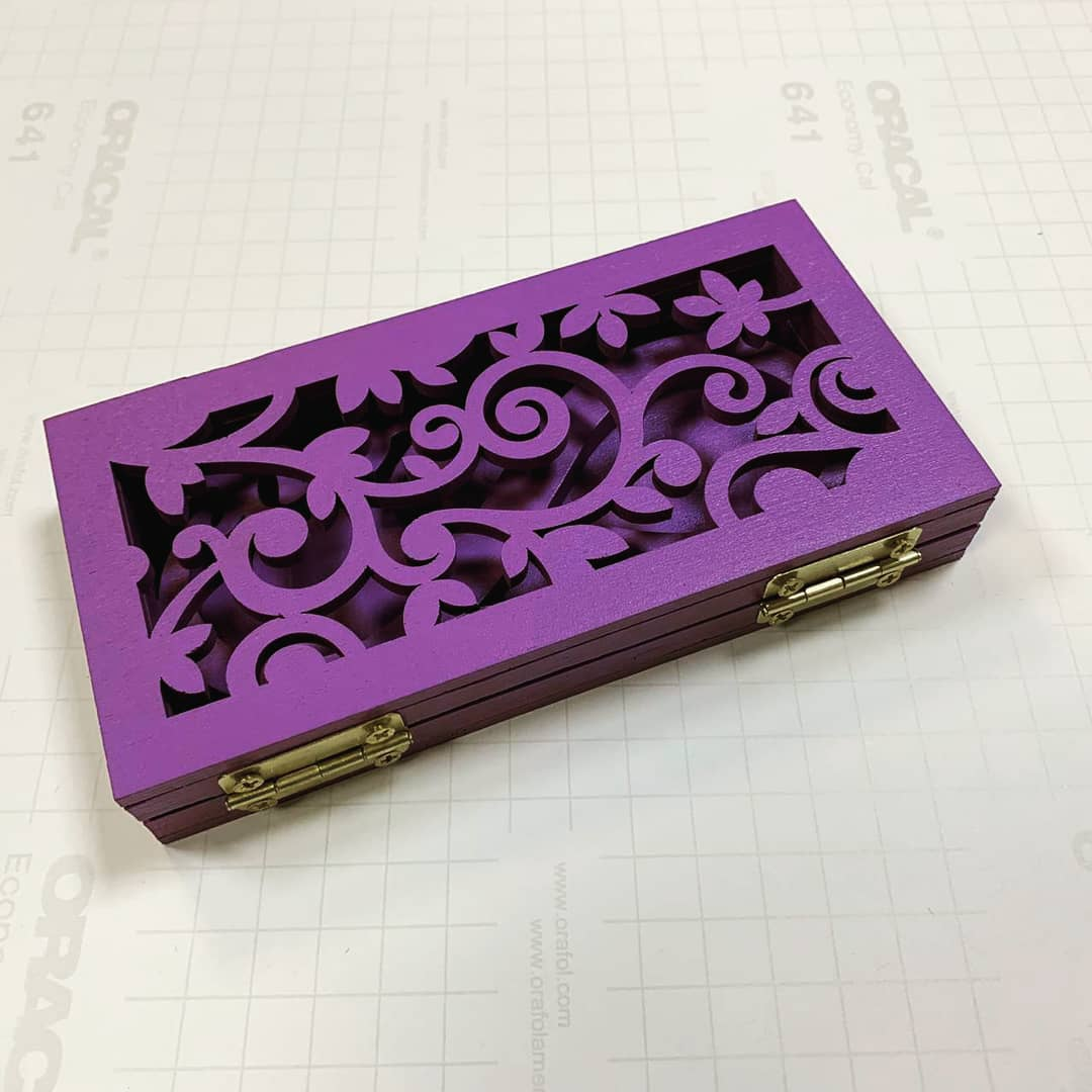 Laser Cut Wedding Ring Box Free Vector