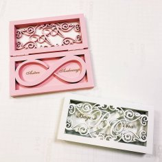 Laser Cut Wedding Ring Box Free Vector