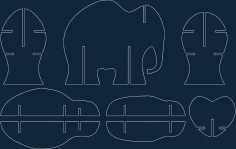 Storage Elephant dxf file