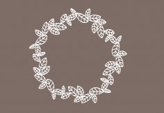 Laser Cut Garland Monogram Base Free Vector