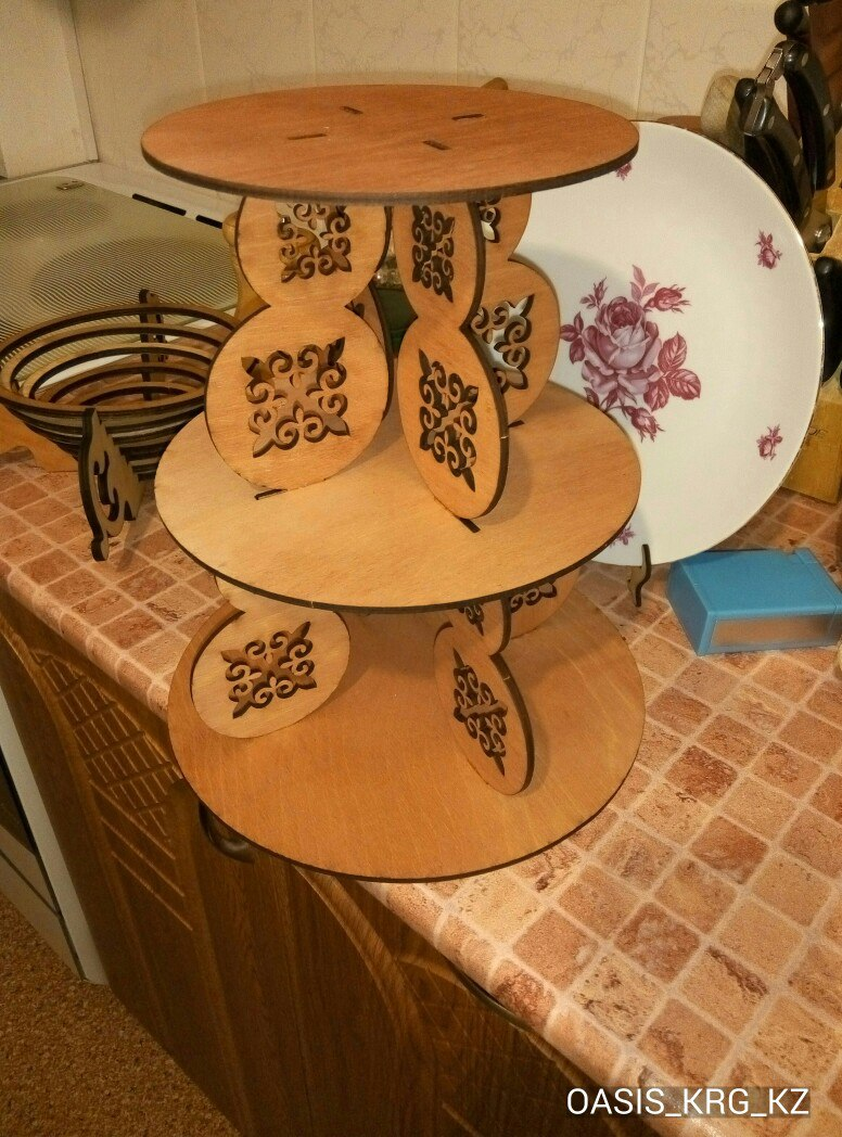 Laser Cut Cake Stand Template Free Vector