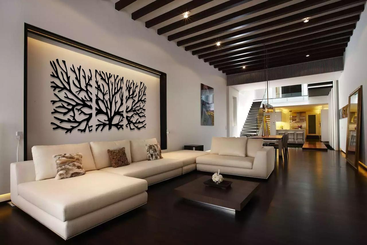 Laser Cut Tree Wall Art Modern House Decor Ideas Template Free Vector
