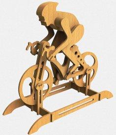 Laser Cut Racing Bike Racer Bicycle DXF File